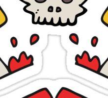 cartoon dagger tattoo Sticker
