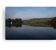 Lakeside Cottage Living - Gentle Morning Fog Canvas Print