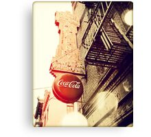 San Francisco Coca-Cola Canvas Print
