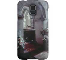 Arches and carpet Priory church of St Mary Deerhurst England 198405140060  Samsung Galaxy Case/Skin