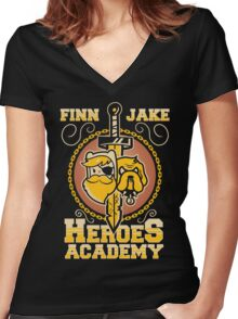 Heroes Academy Women's Fitted V-Neck T-Shirt
