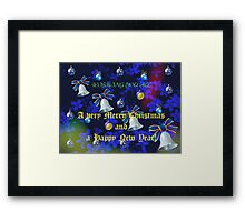 Christmas and New Year Card - For all my RedBubble friends Framed Print