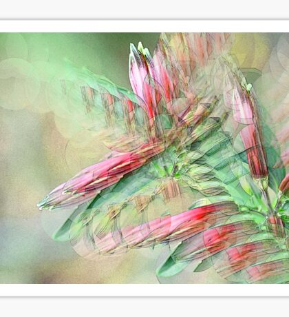 Flowers in abstract form Sticker