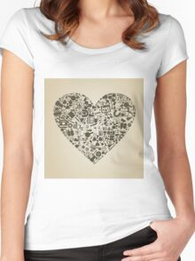 Heart a science Women's Fitted Scoop T-Shirt