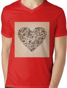 Heart a science Mens V-Neck T-Shirt