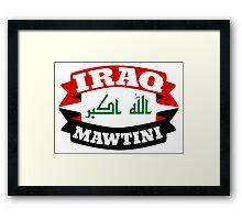 Iraq My Homeland Banner Framed Print