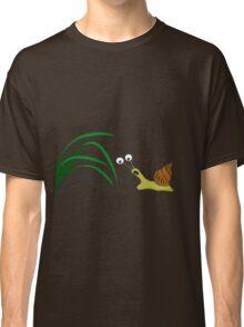 Snail on the grass Classic T-Shirt