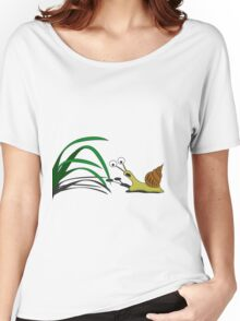 Snail on the grass Women's Relaxed Fit T-Shirt