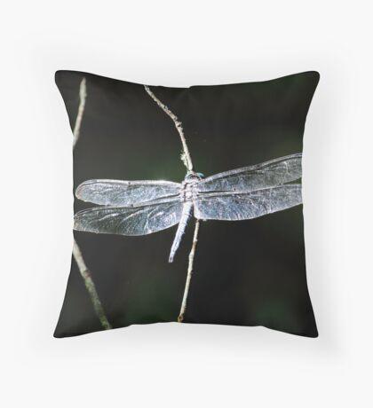 Blue Dasher Throw Pillow