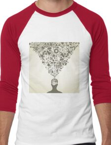 Man of a science Men's Baseball ¾ T-Shirt