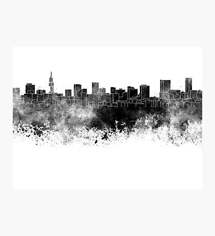 Pretoria skyline in black watercolor Photographic Print