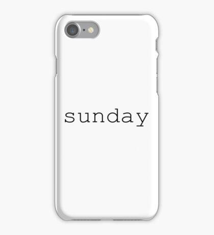 Sunday black iPhone Case/Skin