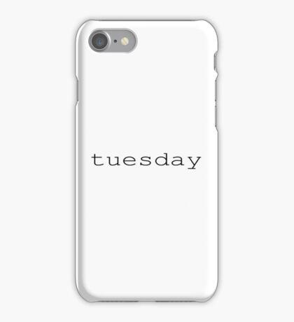 tuesday black iPhone Case/Skin