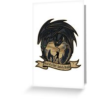Heart of a Chief, Soul of a Dragon Greeting Card
