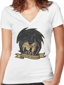 Heart of a Chief, Soul of a Dragon Women's Fitted V-Neck T-Shirt