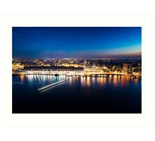 Amsterdam Skyline at Night Art Print