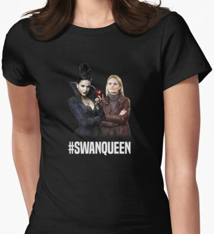 Once Upon A Time: #SWANQUEEN Womens Fitted T-Shirt