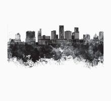 St. Paul skyline in black watercolor Kids Tee