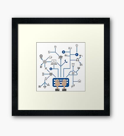 Science a network Framed Print