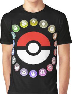 Pokemon Type Wheel Graphic T-Shirt