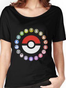 Pokemon Type Wheel Women's Relaxed Fit T-Shirt