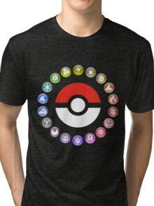 Pokemon Type Wheel Tri-blend T-Shirt