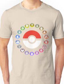Pokemon Type Wheel Unisex T-Shirt