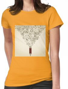 Science a pencil Womens Fitted T-Shirt
