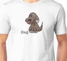 The dog with a bone Unisex T-Shirt