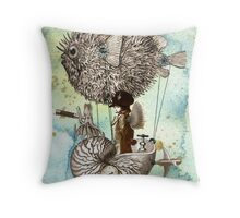 Flotilla - Claude & Blowfish Throw Pillow