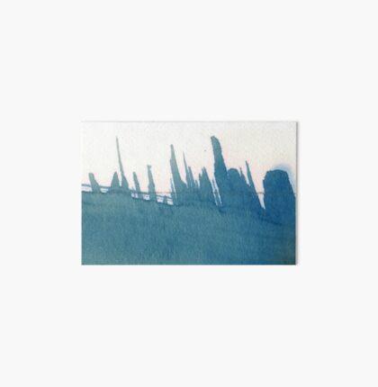 Cyanotype Design Abstract Landscape 2 Art Board