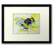 Bumble bee walk by Liz H Lovell Framed Print