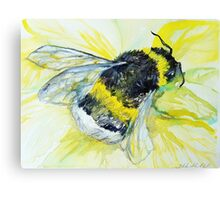Bumble bee walk by Liz H Lovell Canvas Print