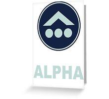 Team Alpha Greeting Card