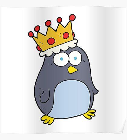 cartoon emperor penguin Poster