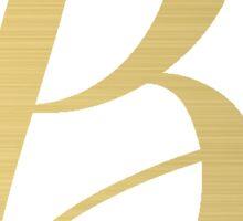 B Initial Sticker