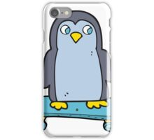 cartoon penguin riding skateboard iPhone Case/Skin