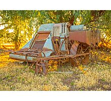 Days gone by..... old harvester. Photographic Print