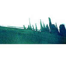 Cyanotype Design Abstract Landscape 3 Photographic Print
