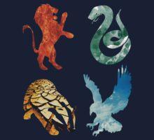 Hogwarts houses elements Kids Tee