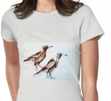Magpies (Cracticus Tibicen) by Liz H Lovell  Womens Fitted T-Shirt