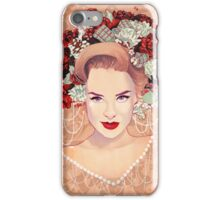 Christmas Res lips beauty iPhone Case/Skin