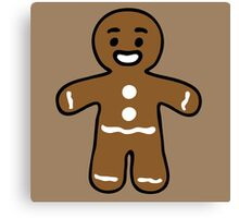 gingerbread man biscuit Canvas Print