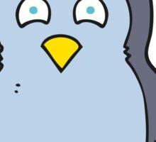 cartoon penguin wearing hat Sticker