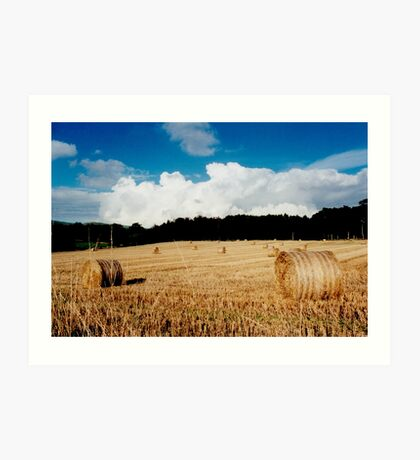 open landscape, Fife, Scotland Art Print