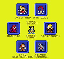 Wolverine Select Screen (Megaman Style) by 8 Bit Hero