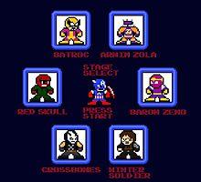 Captain America Screen Select (Megaman Style) by 8 Bit Hero