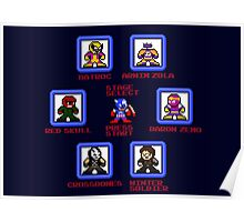 Captain America Screen Select (Megaman Style) Poster