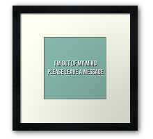 After The Beep Framed Print
