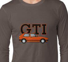 Golf MK2 GTI (Small Bumper, Mars Red) Long Sleeve T-Shirt